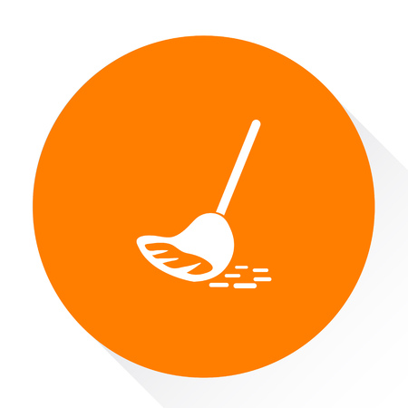 wipe: wiping mop icon Illustration
