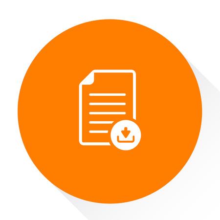 다운로드 기호 아이콘이있는 문서 일러스트