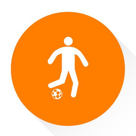 soccer goal: soccer player icon
