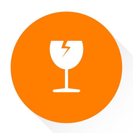 breakable: broken cup glass - cargo icon