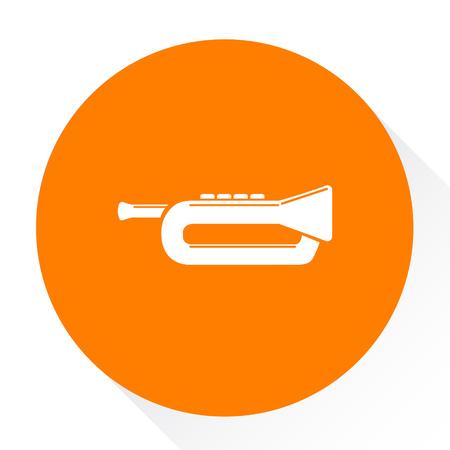 trumpet button icon