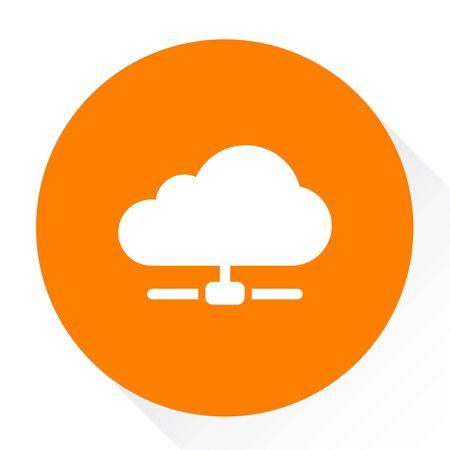 hosting cloud  icon Illustration