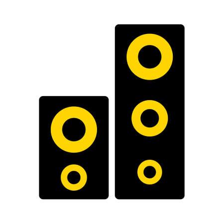 vector sound system speakers - music icon Stock Illustratie