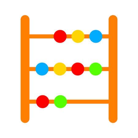 Abacus icon - education icon - mathematics school - symbol - Vector Vector Illustratie