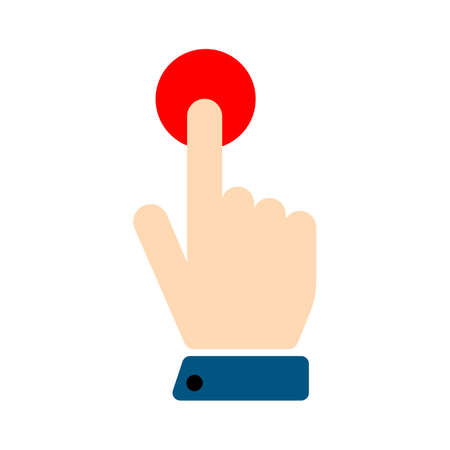 Click hand vector icon. filled flat sign for mobile concept and web design. Touching finger simple solid icon. Symbol, logo illustration. Pixel perfect vector graphics