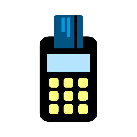 credit card machine icon - payment terminal illustration - atm for money cash Vectores