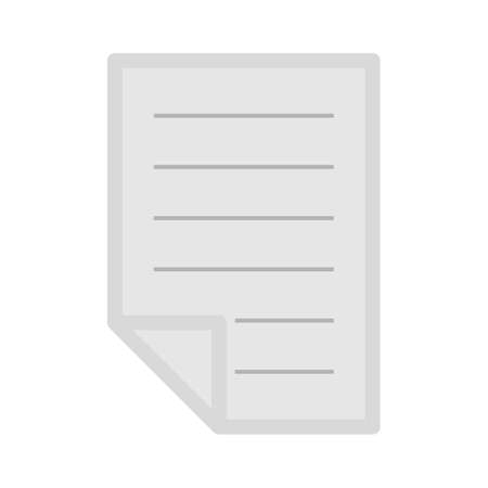text-lines folded sheet icon - text-lines folded sheet isolated, journal release illustration- Vector newspaper