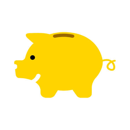 piggy icon. Logo element illustration. piggy symbol design. colored collection. piggy concept. Can be used in web and mobile