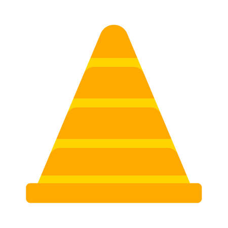 cone sign icon. Logo element illustration. cone sign design. colored collection. cone sign concept. Can be used in web and mobile