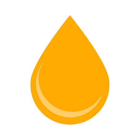 Oil drop isolated. Icon of drop of oil or honey