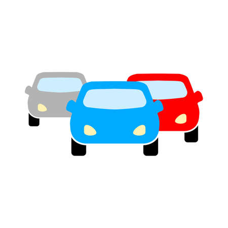 vector traffic cars illustration design - driving icon