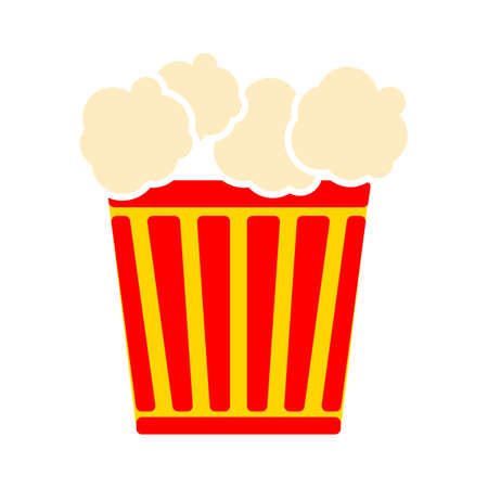 popcorn icon. Logo element illustration. popcorn symbol design. colored collection. popcorn concept. Can be used in web and mobile Illustration