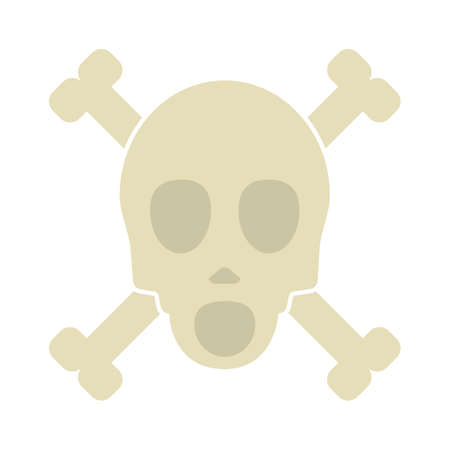 skull-and-bones icon - skull-and-bones isolated,poison symbol illustration- Vector pirate Illustration