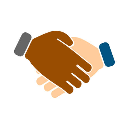agreement deal, handshake icon - business partnership concept - friendship symbol Illustration