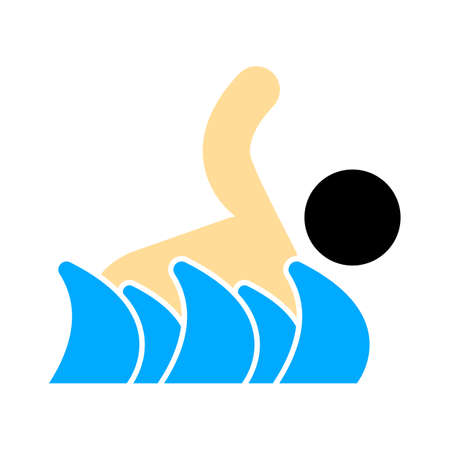 swimming icon, vector swimming pool, water swim sport 免版税图像 - 154935013