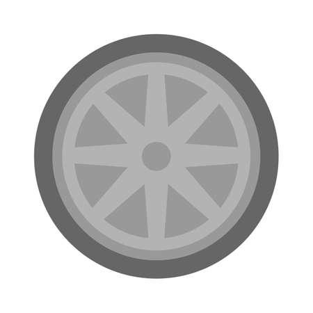 vector car tyre illustration - car tyre symbol, car wheel and tyre sign. automobile vehicle symbol Vektorgrafik