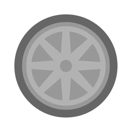 vector car tyre illustration - car tyre symbol, car wheel and tyre sign. automobile vehicle symbol