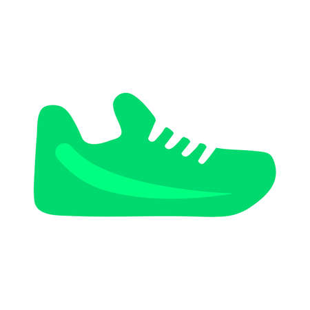 vector running shoes illustration isolated - foot wear symbol. footwear sign Illustration