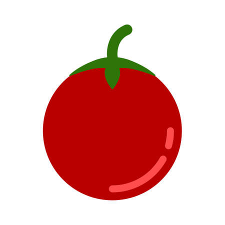 vector vegetable tomato illustration isolated, fresh organic healthy food