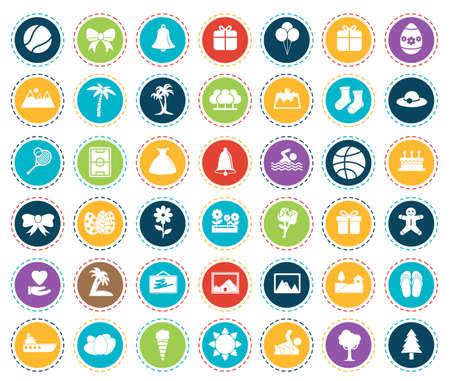 Holiday icons 矢量图像