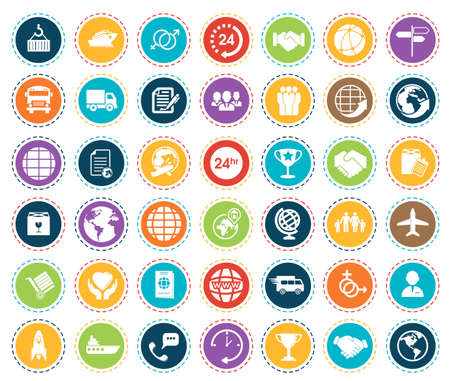 Shipping icons 矢量图像