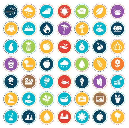 Nature icons 矢量图像