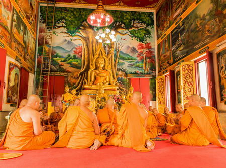 ordain: ordain thai man with buddhist culture