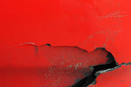 craked: red craked metal Stock Photo