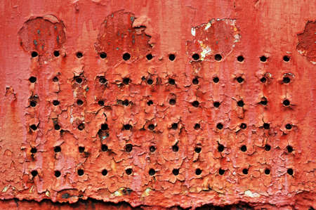 old red metal photo