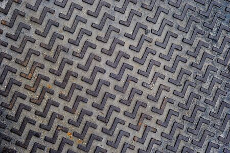 pattern  of old metal Stock Photo