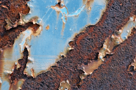 Closeup of cracked and peeling paint on an old car Stock Photo