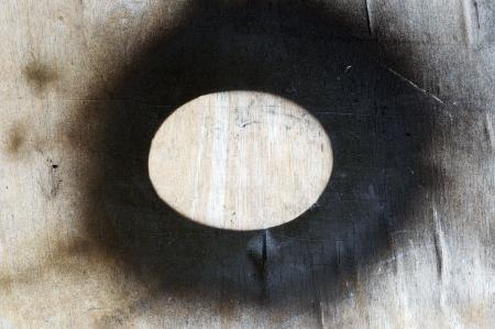 black on wood photo