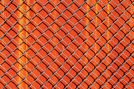 chain link fence: metal fence