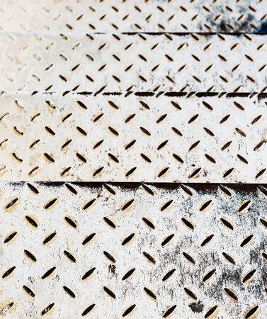 channeled: metal floor Stock Photo