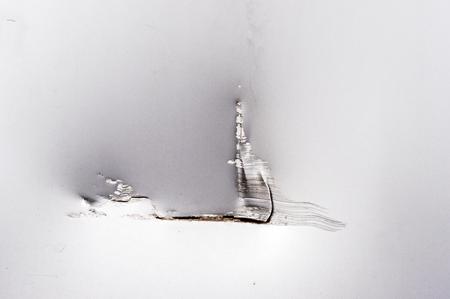crack: crack on metal
