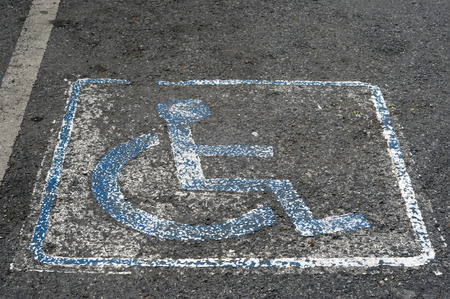 wheel chair sign Stock Photo