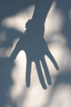 shadow of hand Stock Photo