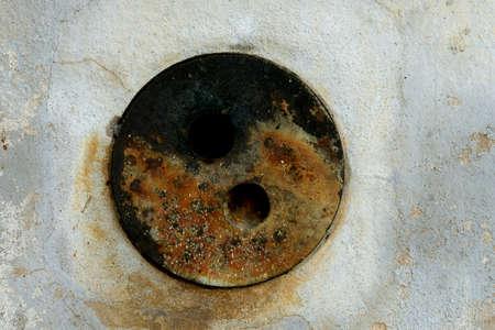 old circle metal