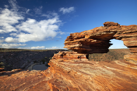 rock formation: Natures Window, a natural arch rock formation in Kalbarri National Park, Western Australia.