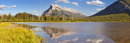 vermilion: Vermilion Lakes and Mount Rundle in Banff National Park, Canada.
