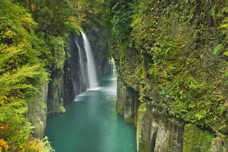 The Takachiho Gorge on the island of Kyushu, Japan. 免版税图像 - 44887431