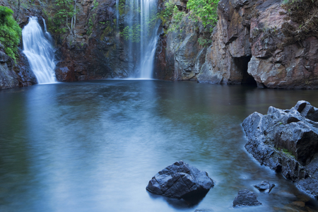 The Florence Falls in Litchfield National Park, Northern Territory, Australia. Photographed at dawn. Reklamní fotografie