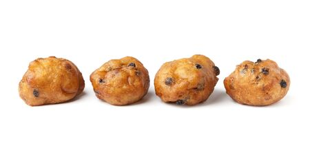 Oliebollen, traditional Dutch pastry for New Years Eve. Stock Photo