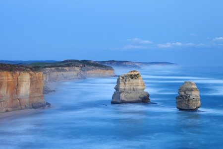 water's edge: The Twelve Apostles along the Great Ocean Road, Victoria, Australia. Photographed at dusk.