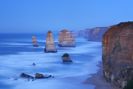 apostles: The Twelve Apostles along the Great Ocean Road, Victoria, Australia. Photographed at dawn. Stock Photo