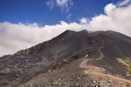 in europe: Volcanic landscape along the Ruta de los Volcanes on La Palma, Canary Islands, Spain. Stock Photo