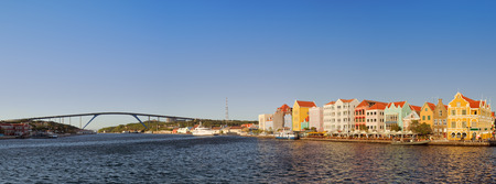 juliana: The waterfront in Willemstad, Curacao in the Netherlands Antilles in late evening sunlight.