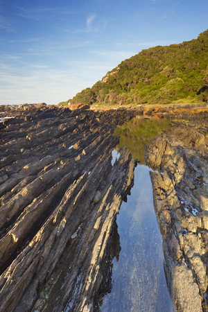 The rocky coastline of the Tsitsikamma section of the Garden Route National Park, South Africa.