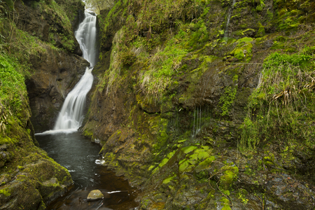 northern ireland: The Ess-Na-Laragh waterfall in Glenariff Forest Park in Northern Ireland.