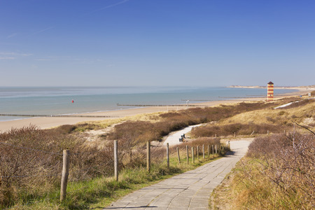 The dunes at Dishoek in Zeeland, The Netherlands on a sunny day.